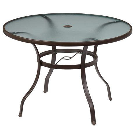 hton bay table l home depot patio table hton bay niles park 18 in cast
