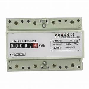 Digital 3 Phase 4 Wire 7p Din Rail Electric Meter