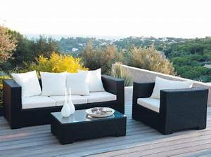 Salon De Jardin Terrasse : petit salon de jardin pour balcon mobilier les jardins reference maison ~ Teatrodelosmanantiales.com Idées de Décoration