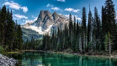 Mountain River Nature Trees Shore Wallpapers Lake