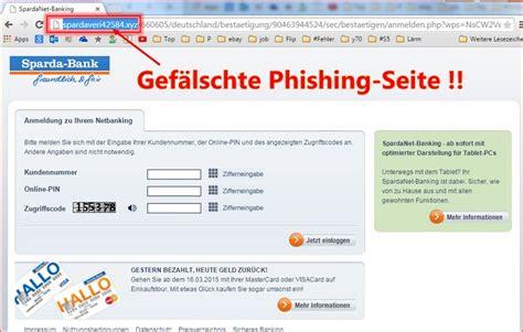 sparda bank  banking deaktiviert phishing hier mit