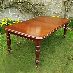 Victorian, Mahogany, Wind, Out, Dining, Table