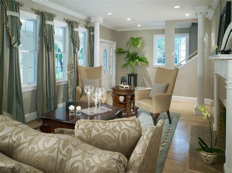 Traditional Living Room Mixes Old With New Shelley
