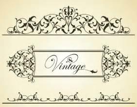wedding door hanger template pattern vintage patterns border vector 3 vector