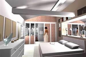 idee suite parentale avec salle bain galerie et suite With suite parentale avec salle de bain et dressing