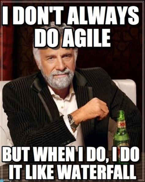 Agile Meme - development diva agile vs waterfall strategy