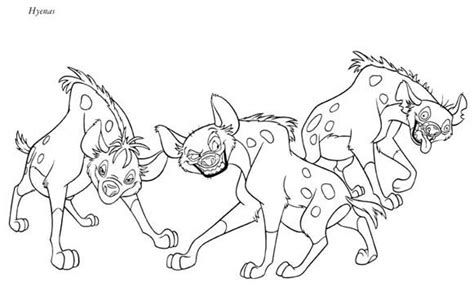 Realistic Striped Hyena Coloring Page