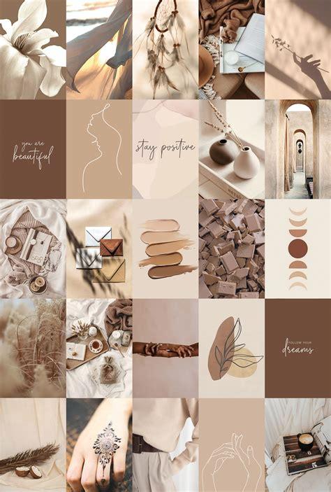 boho collage kit aesthetic beige brown trendy