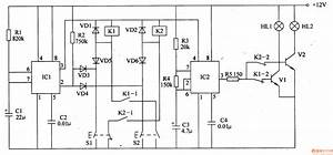 motor vehicle steering flasher 2 basic circuit circuit With the nc monostable multivibrator circuit shown in the chart is composed