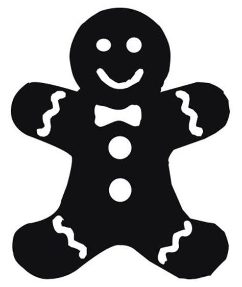 ginger bread man shape christmas stencils christmas svg