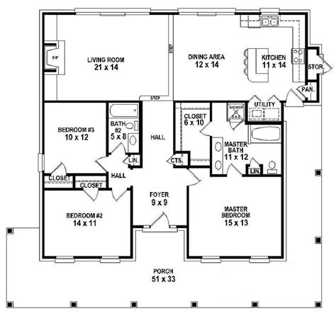 country home plans one story 654151 one story 3 bedroom 2 bath southern country