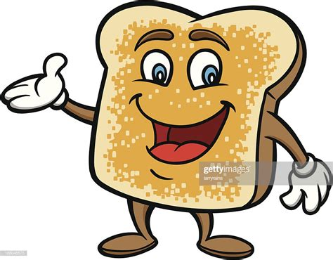 Toast Cartoon Vector Art