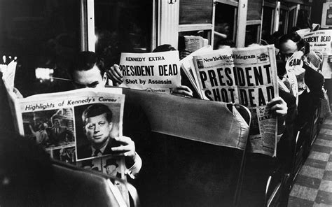 Newspaper Front Pages Covering Jfk's 1963
