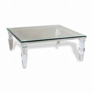 Coffee table round acrylic coffee table acrylic coffee for Clear lucite acrylic coffee table