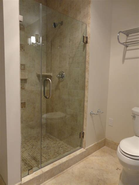 frameless shower door   thick clear tempered glass