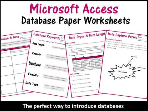 microsoft access worksheets databases worksheets microsoft access by balsamgr8 teaching resources