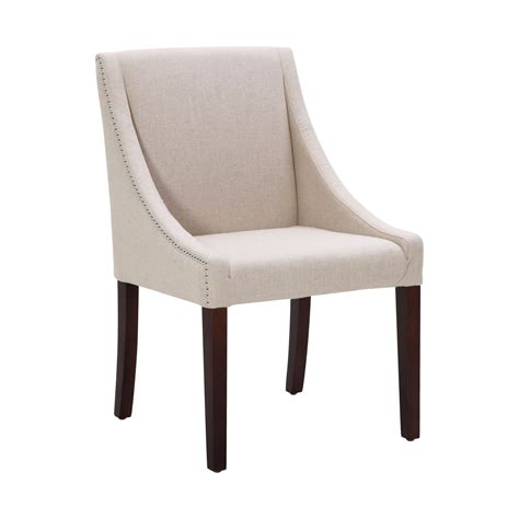 sunpan 72286 lucille dining chair in linen look fabric w