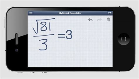 calculator app for iphone calculator iphone app lets you use your handwriting