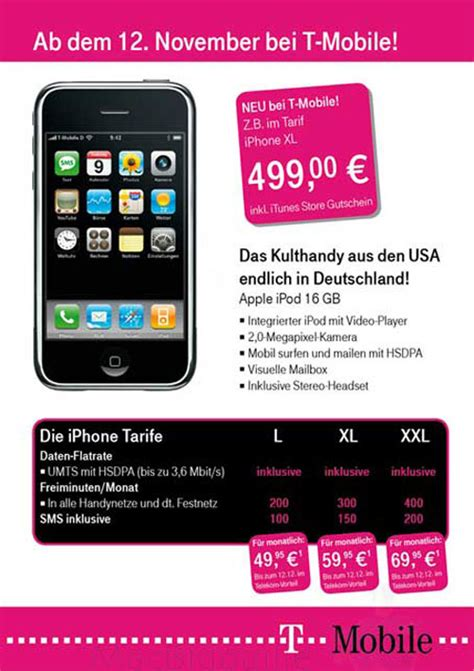t mobile voicemail iphone t mobile germany leaks 16gb iphone with 3g hsdpa may