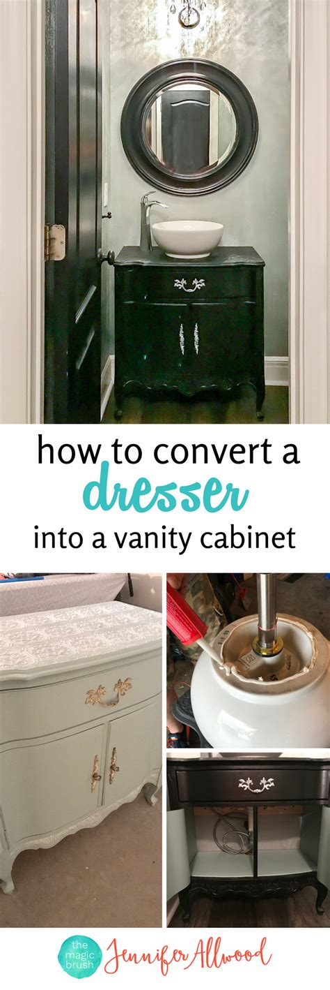 how to turn an dresser into a kitchen island how to make an dresser into a vanity cabinet 9973
