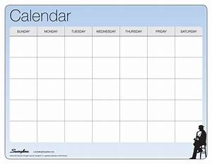 one month calendar laminating templates With blank one month calendar template