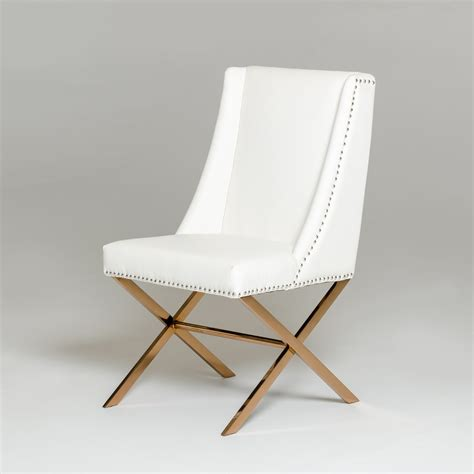 modrest alexia modern white rosegold dining chair