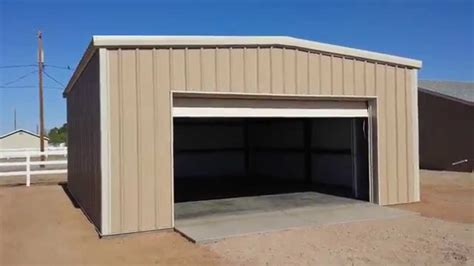 Preengineered Metal Garage San Tan Valley Az Youtube