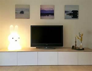 Tv Lowboard Ikea : ikea hack metod lowboard wei eiche wohnen in 2019 ~ A.2002-acura-tl-radio.info Haus und Dekorationen