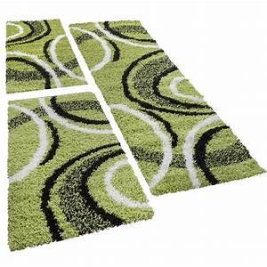 Teppich Läufer Grün : shaggy l ufer bettumrandung hochflor teppich vigo gemustert gr n schwarz 3er set hochflor teppich ~ Whattoseeinmadrid.com Haus und Dekorationen