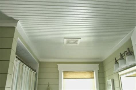 Beadboard Ceiling In Bathroom :  The Final Results