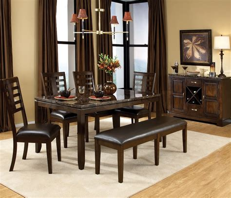 Stylish Paint Colors For Dining Room With Dark Furniture