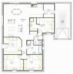 Plan Maison 4 Chambres Avec Suite Parentale : id es de plan maison plain pied 4 chambres rectangulaire int rieur de maison ~ Melissatoandfro.com Idées de Décoration