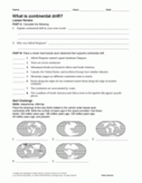What Is Continental Drift? Earth Science Printable (6th12th Grade) Teachervision