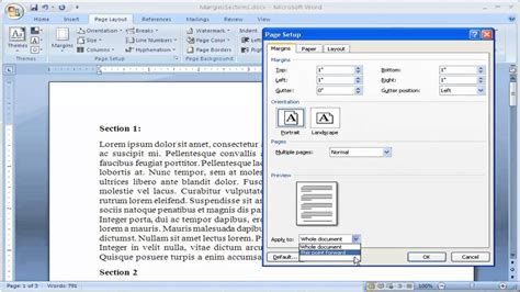 how to change margins in microsoft word 2007 make