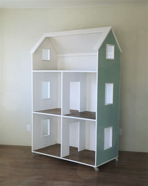 Simple Plans To Build A Dollhouse Placement by White Three Story American Or 18 Quot Dollhouse
