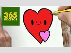 Colorear Paso Corazón De Bocetos Kawaii Www Miifotos Com