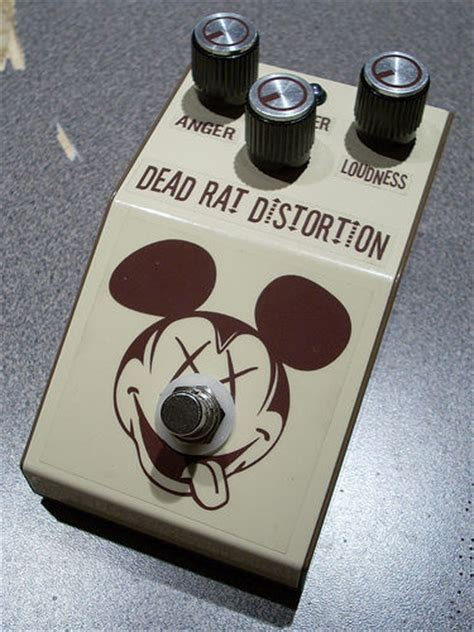 diy rat clone distortion guitar effect pedal  dead rat