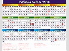 kalender 2018 Lovely Indonesia kalender 2018 Printable