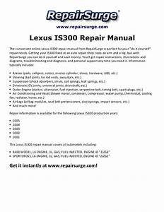 2002 Lexus Is300 Repair Manual Pdf Multiplyillustration Com