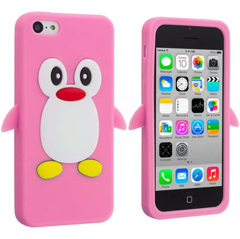 iphone 5c silicone cellsafe silicone for iphone 5c white csip5c w b h for apple iphone 5c penguin silicone soft rubber
