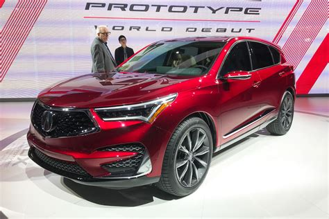 New 2019 Acura Rdx Prototype Unveiled At Detroit For Us