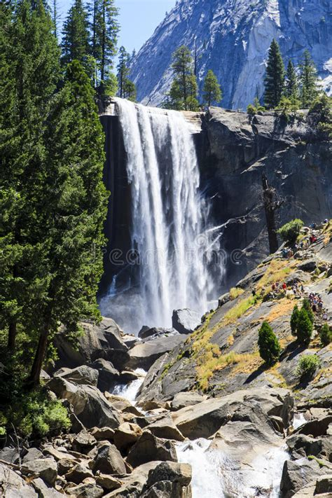 Vernal Falls Seen From Clark Point Stock Image