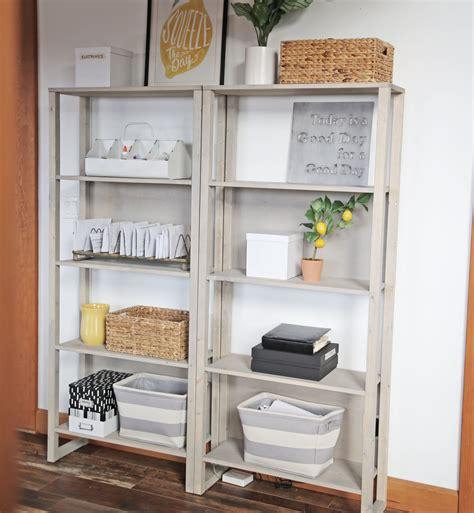 ana white  industrial bookshelf diy projects