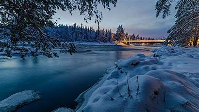 Snow 4k Bridge Nature Wallpapers Finland Covered