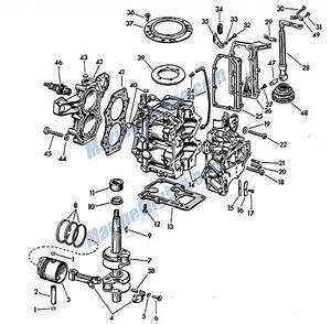 Powerhead Group Parts For 1957 5 5hp Cd