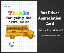 Bus Driver Appreciation Card: Free Printable!