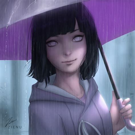wallpaper hyuuga hinata naruto boruto raining short