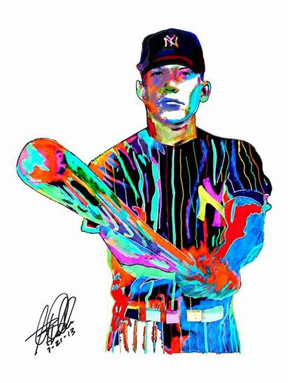 Mickey Mantle York Baseball Clipart Yankees Yankee