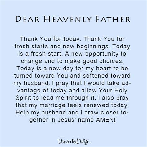 prayer fresh start
