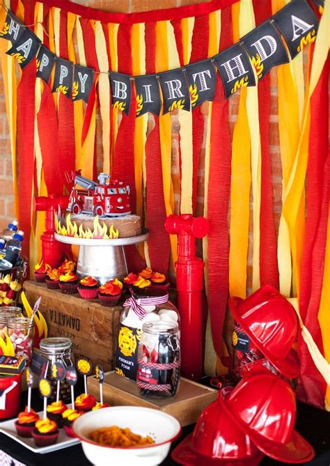 birthday party ideas for popsugar fireman birthday party fireman birthday fireman